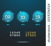 countdown web site vector flat... | Shutterstock .eps vector #1019256514