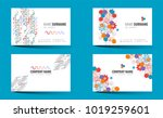 creative double sided business... | Shutterstock .eps vector #1019259601