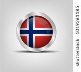 cross button  norway icon... | Shutterstock .eps vector #1019261185