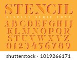 display stencil serif antique... | Shutterstock .eps vector #1019266171