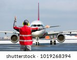 aviation marshall   supervisor... | Shutterstock . vector #1019268394