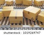 3d illustration packages... | Shutterstock . vector #1019269747