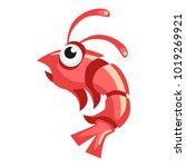cartoon vector shrimp   Shutterstock .eps vector #1019269921