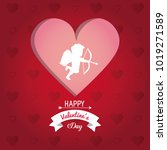 happy valentines day card | Shutterstock .eps vector #1019271589