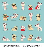 vector illustration set of cute ... | Shutterstock .eps vector #1019272954