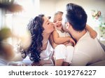 mommy and daddy love me so much.... | Shutterstock . vector #1019276227