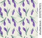 spring watercolor violet... | Shutterstock .eps vector #1019276521