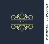 vintage frame vector | Shutterstock .eps vector #1019279425