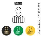 referee avatar icons. football...