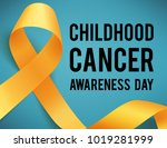 realistic gold ribbon ... | Shutterstock . vector #1019281999