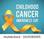 poster for childhood cancer... | Shutterstock . vector #1019282005