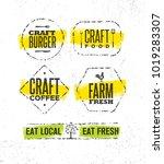 craft artisanal fresh local... | Shutterstock .eps vector #1019283307