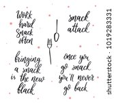 set of vector quotes about eat. ...   Shutterstock .eps vector #1019283331