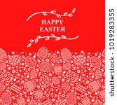 vector illustrations of easter... | Shutterstock .eps vector #1019283355