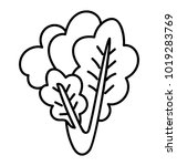 spinach bunch hand drawn... | Shutterstock .eps vector #1019283769