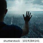 looking over the city | Shutterstock . vector #1019284141