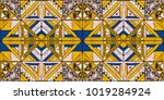 tribal vector ornament.... | Shutterstock .eps vector #1019284924