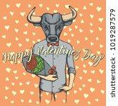 vector valentine day concept.... | Shutterstock .eps vector #1019287579