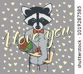 vector valentine day concept.... | Shutterstock .eps vector #1019287585