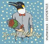 vector valentine day concept.... | Shutterstock .eps vector #1019287615