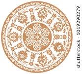 floral design  vector pattern... | Shutterstock .eps vector #1019290279