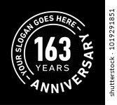 163 years anniversary logo...   Shutterstock .eps vector #1019291851