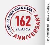 162 years anniversary logo... | Shutterstock .eps vector #1019291899