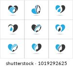 spa and salon logo design set ... | Shutterstock .eps vector #1019292625