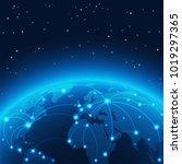 abstract world network vector...   Shutterstock .eps vector #1019297365