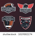 set of american football... | Shutterstock .eps vector #1019302174