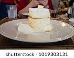 fluffy japanese pancakes | Shutterstock . vector #1019303131
