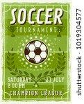 soccer tournament invitation... | Shutterstock .eps vector #1019304577