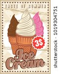 ice cream colorful vertical... | Shutterstock .eps vector #1019304751