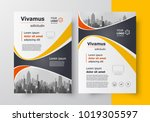 curves theme flyer brochure... | Shutterstock .eps vector #1019305597