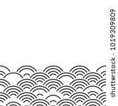 seigaiha or seigainami... | Shutterstock .eps vector #1019309809