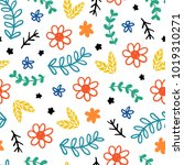 seamless childish pattern.... | Shutterstock .eps vector #1019310271