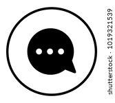 bubble message vector icon | Shutterstock .eps vector #1019321539