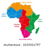 regions of africa. political... | Shutterstock .eps vector #1019321797