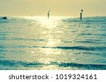 sunshine reflected on the sea... | Shutterstock . vector #1019324161