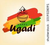 ugadi festival vector... | Shutterstock .eps vector #1019328091