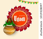 ugadi festival vector... | Shutterstock .eps vector #1019328097
