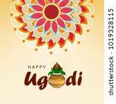 ugadi festival vector... | Shutterstock .eps vector #1019328115