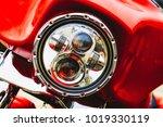 headlamp red chopper harley... | Shutterstock . vector #1019330119