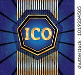 ico and token conceptual design ...   Shutterstock . vector #1019334505