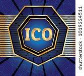 ico and token conceptual design ...   Shutterstock . vector #1019334511