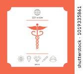 caduceus medical symbol.... | Shutterstock .eps vector #1019335861