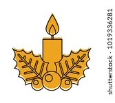 candle christmas isolated icon | Shutterstock .eps vector #1019336281