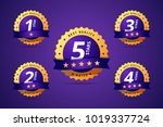 set of a rating stamp  badge.... | Shutterstock . vector #1019337724