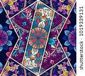 vector abstract seamless... | Shutterstock .eps vector #1019339131