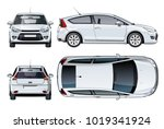 vector car mockup isolated on... | Shutterstock .eps vector #1019341924